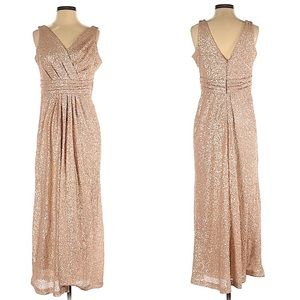 Sorella Vita Sequin V-Neck Gown